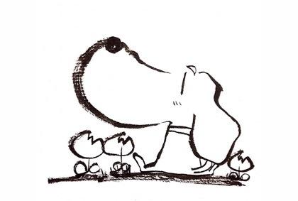 犬のイラスト塗り絵と見本