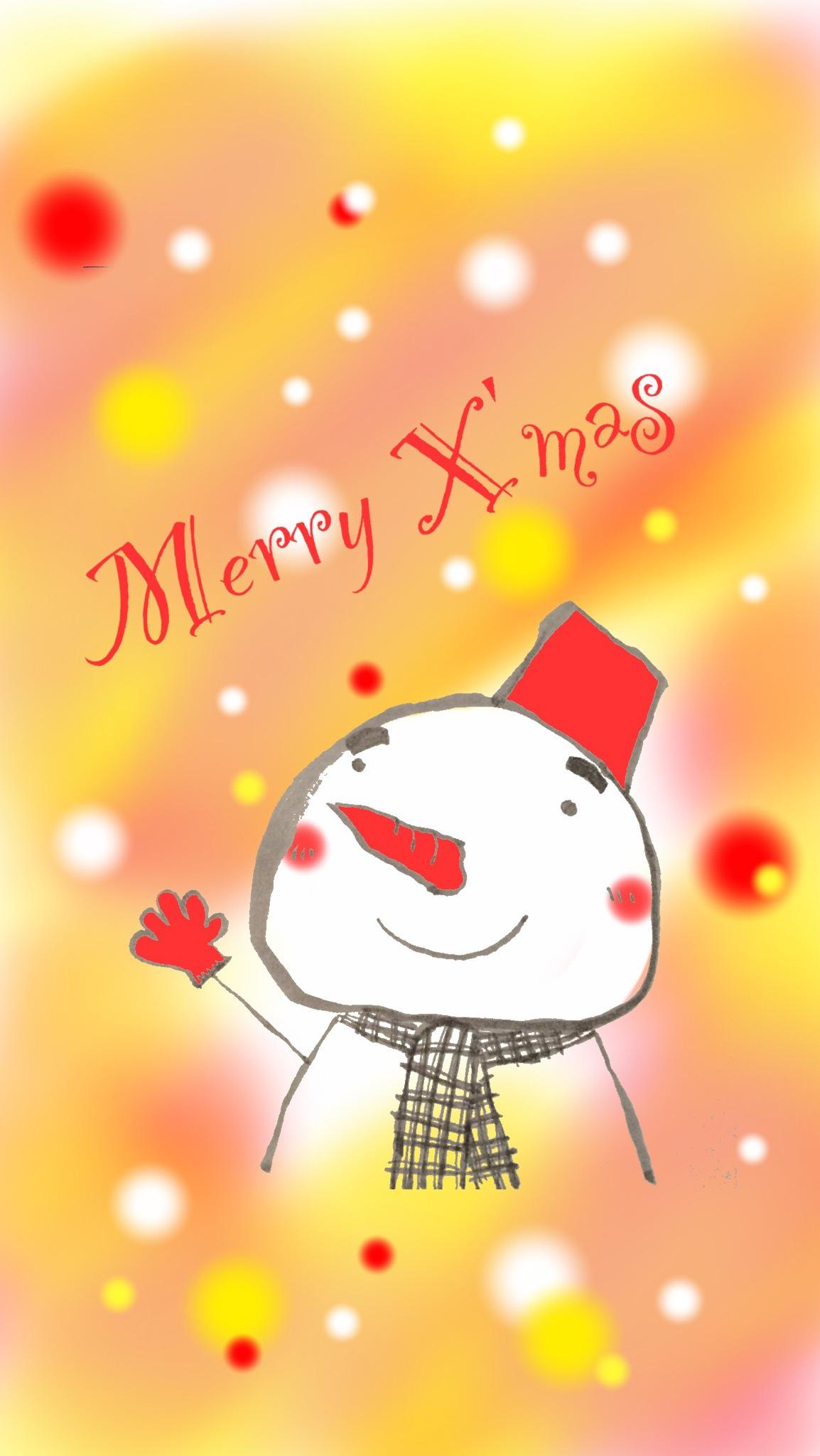 雪だるまのクリスマスカードカード素材