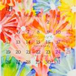 1月のカレンダー お花イラスト 無料ダウンロード
