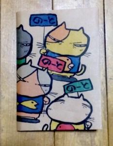 目つき悪い猫 A6ノートカバー