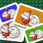 サンタクロースのイラスト クリスマスカード用素材 無料ダウンロード