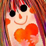 バレンタインカード女の子のイラスト素材