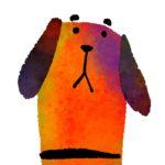 犬のイラストをiPhoneで描いてた動画